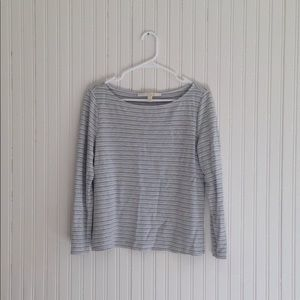 Nordstrom Collection | Gray striped long sleeve m